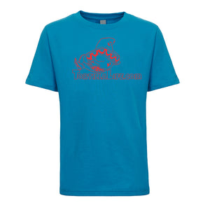 Kids Unisex/Boy's Logo T-Shirt - Red Design