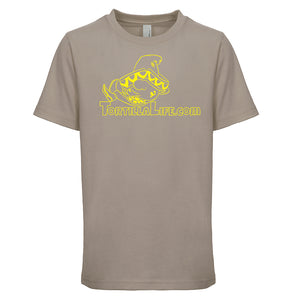 Kids Unisex/Boy's Logo T-Shirt - Yellow Design