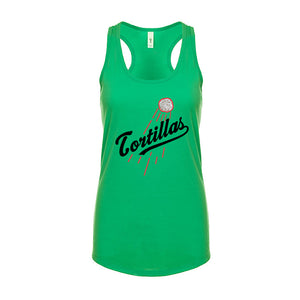 Ladies Cali Homerun Racerback Tank Top - Black Design