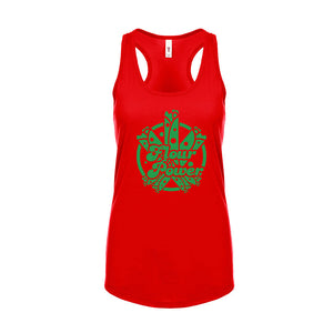 Ladies Flour Power Racerback T-Shirt Tank - Green Design