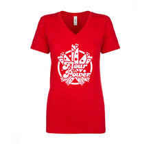 Load image into Gallery viewer, Ladies Flour Power T-Shirt - White Design