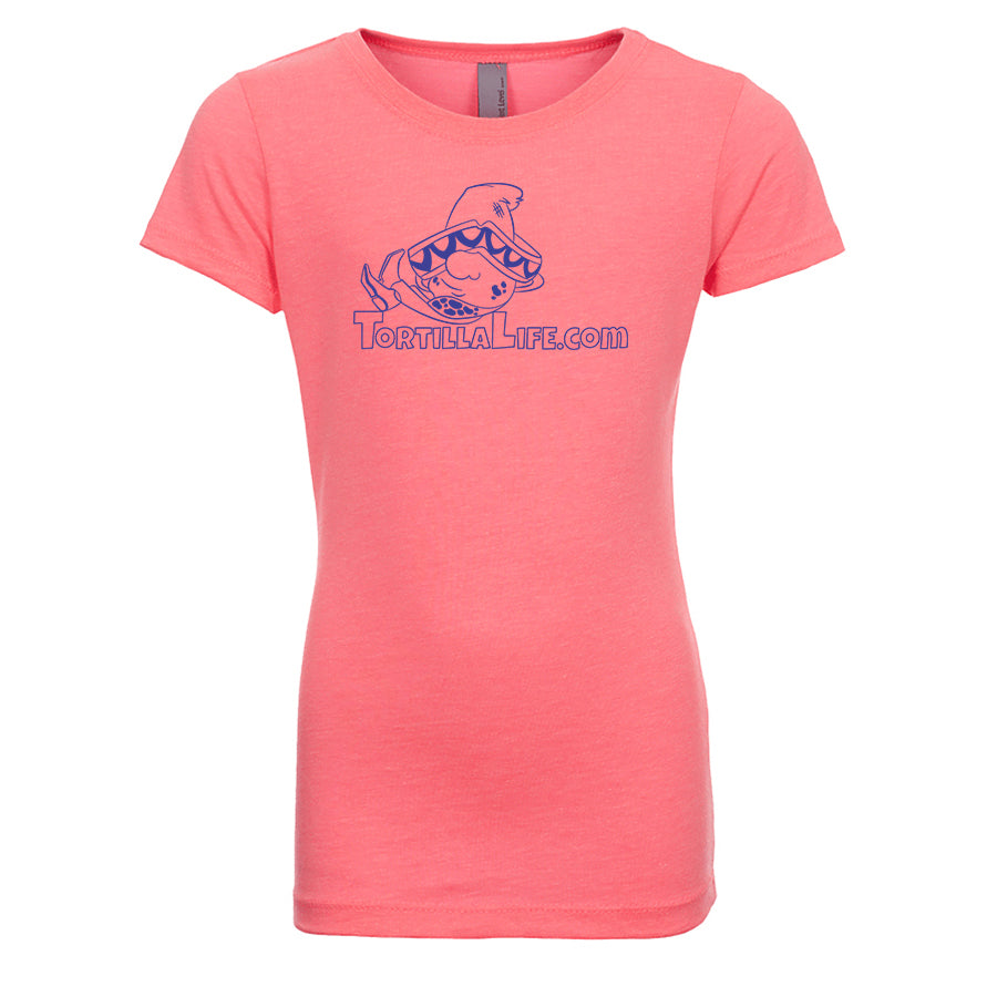 Girl's Tortilla Life Solid Logo T-Shirt - Blue Design