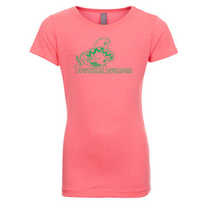 Girl's Tortilla Life Solid Logo T-Shirt - Kelly Green Design