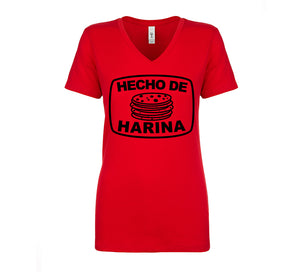 Ladies Hecho de Harina (Made with Flour) Tee - Black Design