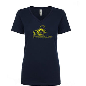 Ladies V-Neck Tortilla Life Solid Logo - Yellow