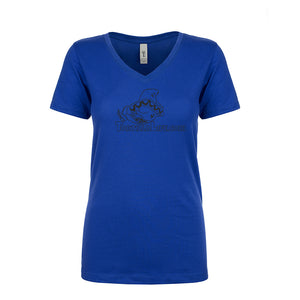 Ladies V-Neck Tortilla Life Solid Logo - Black