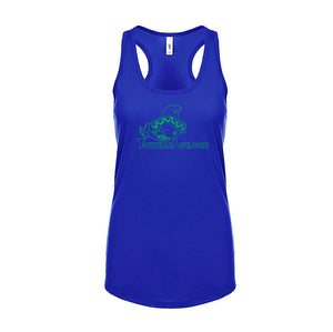 Ladies Solid Logo Racerback T-Shirt Tank - Kelly Green