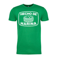 Load image into Gallery viewer, Men's Hecho De Harina T-Shirt - White Design