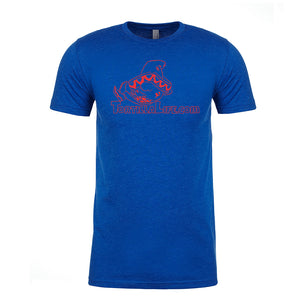 Royal Blue with Solid Red Logo Tortilla Life