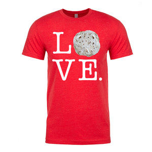 Men's Flour Tortilla Love T-Shirt (White Lettering)