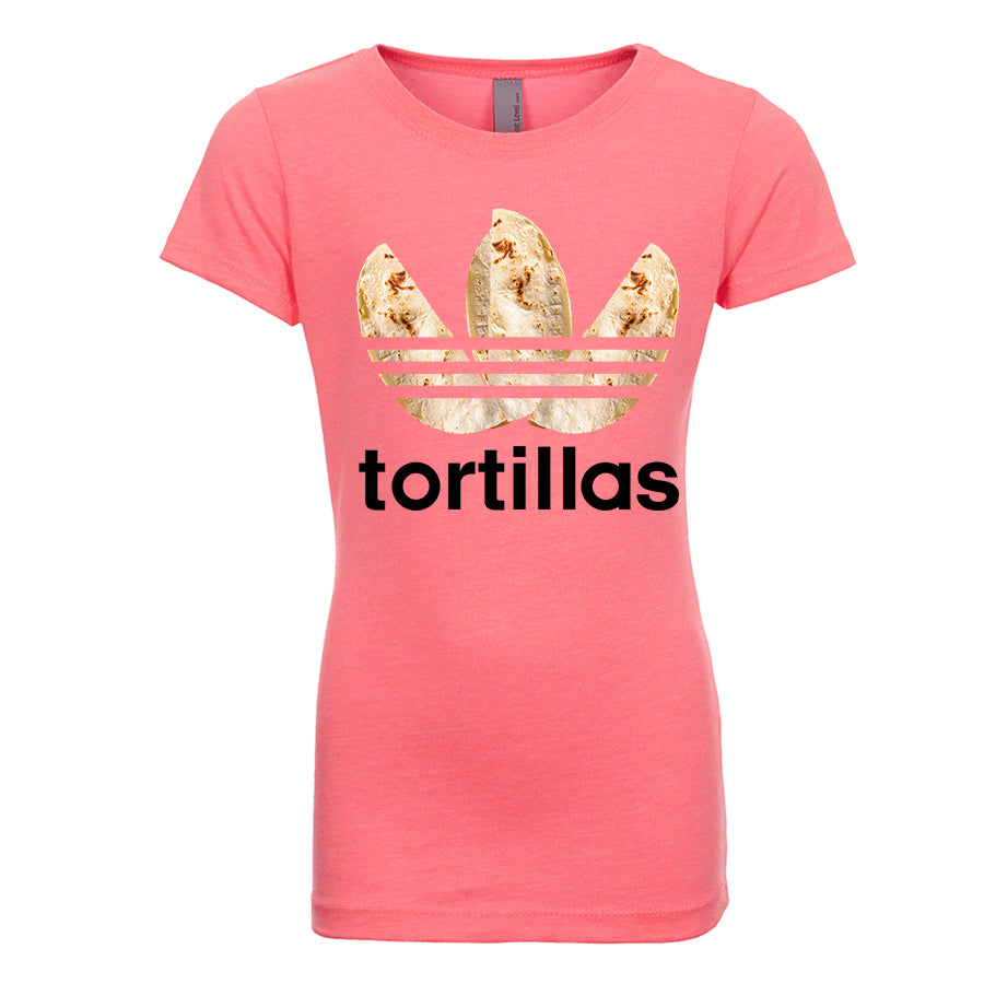 Girl's Flour Tortillas Basic Tee - Black Design