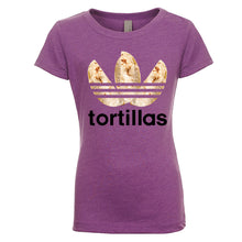 Load image into Gallery viewer, Girl's Flour Tortillas Basic Tee - Black Design