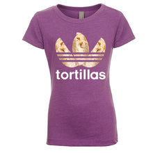 Load image into Gallery viewer, Girl's Flour Tortillas Basic Tee - White Design