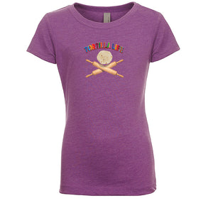 "Girl's ""Tortilla Life"" Basic Crew Neck T-Shirt - Serape Lettering"