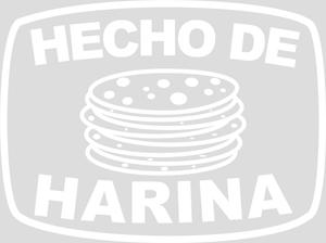 Ladies Hecho De Harina (Made with Flour) Tank T-Shirt - White Design