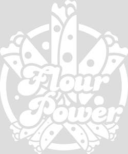 Kids Unisex / Boy's Flour Power Tee - White Design
