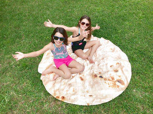 The World's Best  Flour Tortilla Beach Towel.