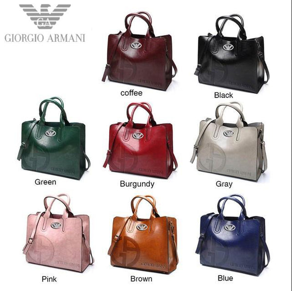 2009 Giorgio Armani Leather Handbags