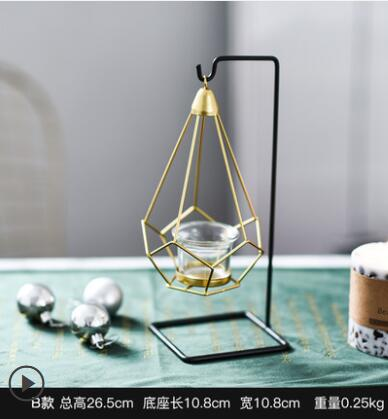 2pcs Originality Luxurious Romantic Dinner Candle Holders