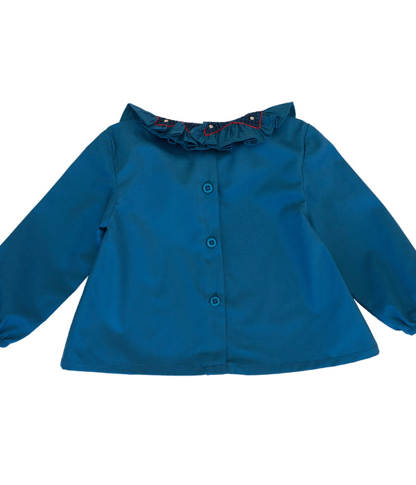 Zoe baby blouse- dark blue