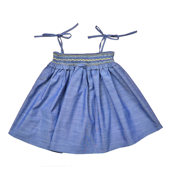 Blue Baby Girl Dress Sassou
