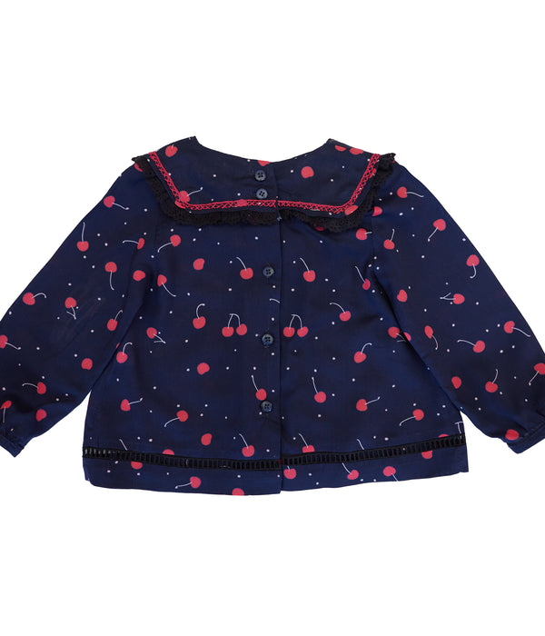 Heliana baby blouse- cherries