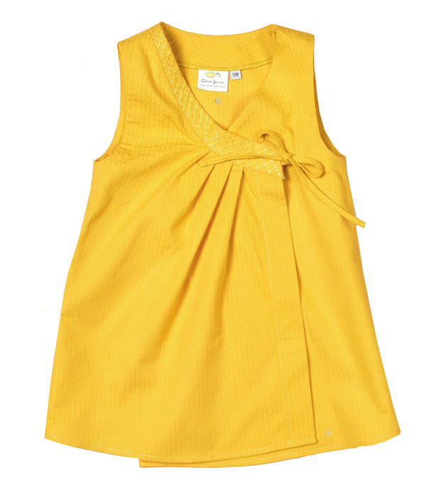 Yellow Baby Girl wrap Dress Sunny