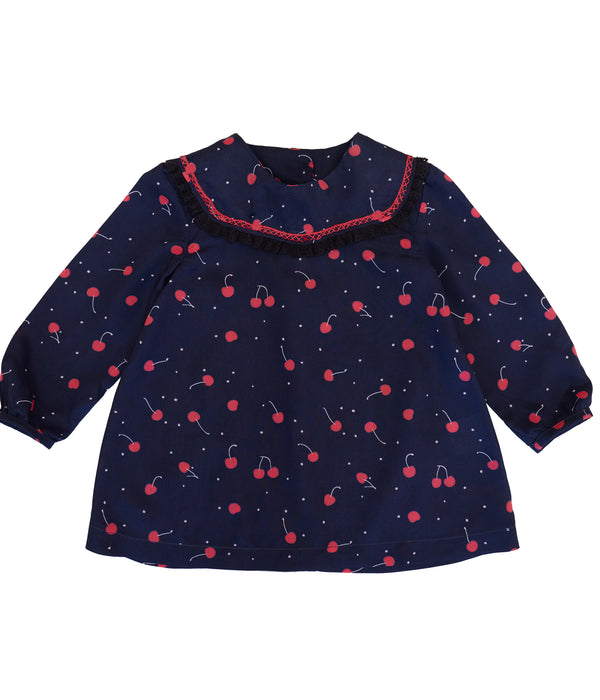 Lorilee baby dress- cherry print
