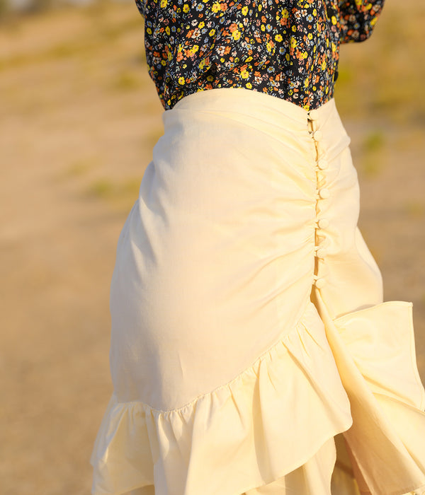 Light yellow Seraphine Skirt