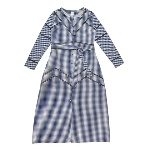 Vassili Dress - checked blue