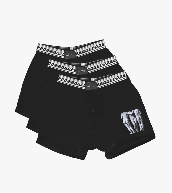 Les Amis Black Muse Boxer Multi Pack