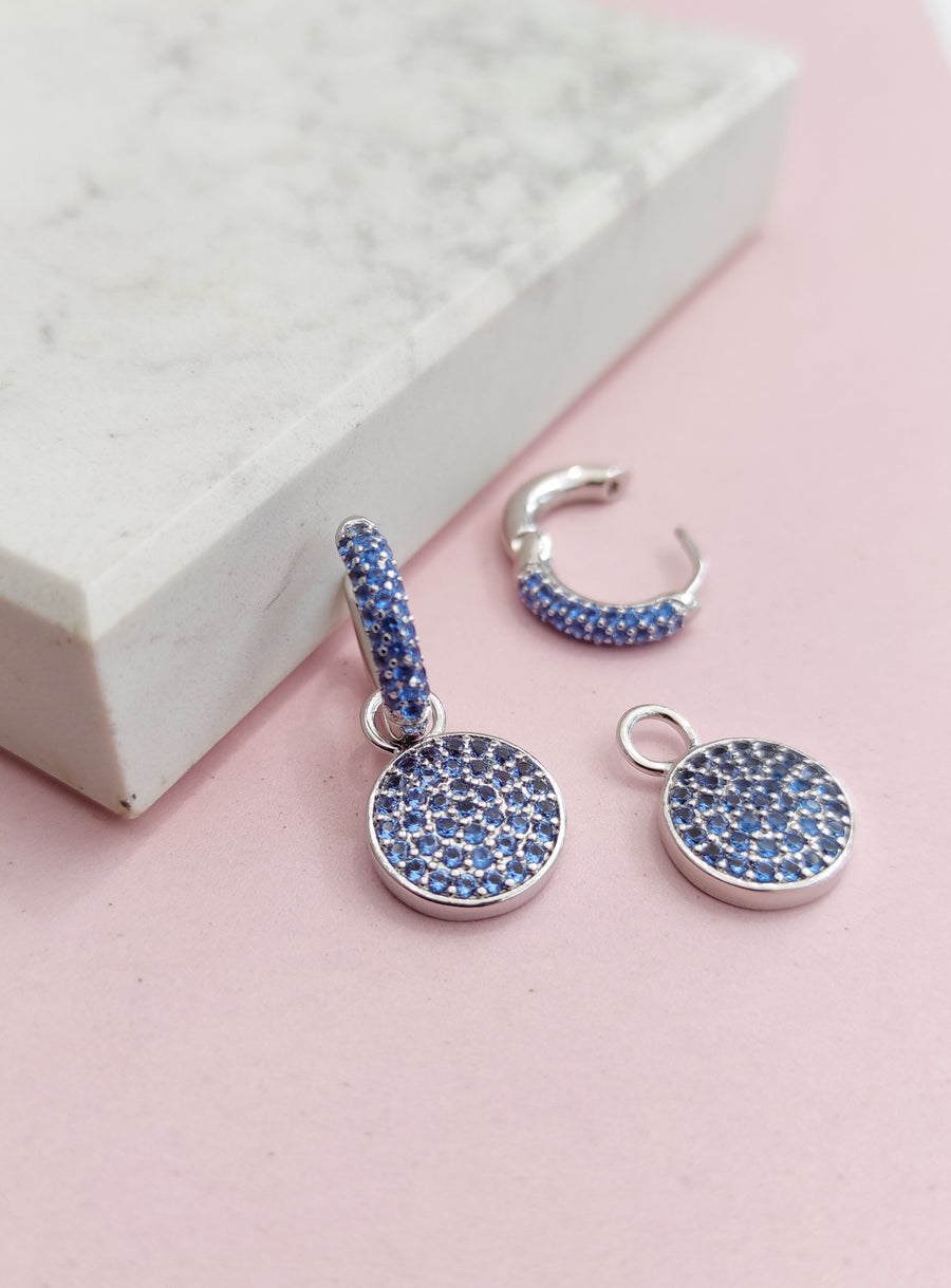 Limited Edition! Sky Blue Cosmos Ear Charms