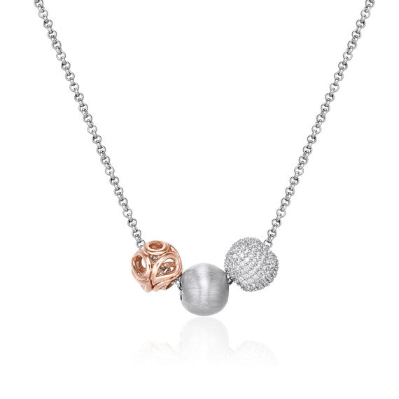 Sunset Trio Necklace 925 Sterling Silver* (3926677258326)