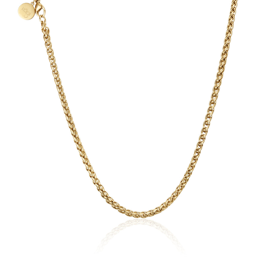 Gold Helix Petite Necklace 50cm (3926678470742)