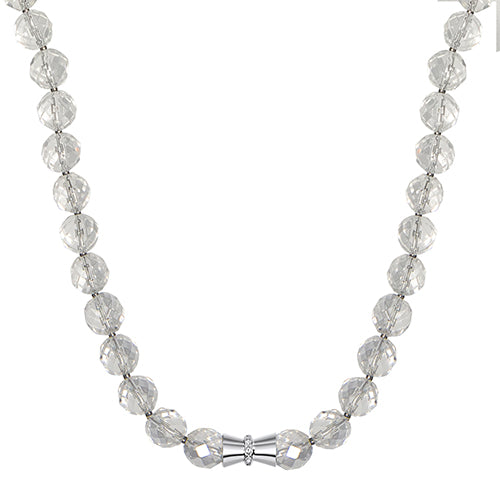 BARGAIN! Clear Crystal Magnetic 49cm Necklace