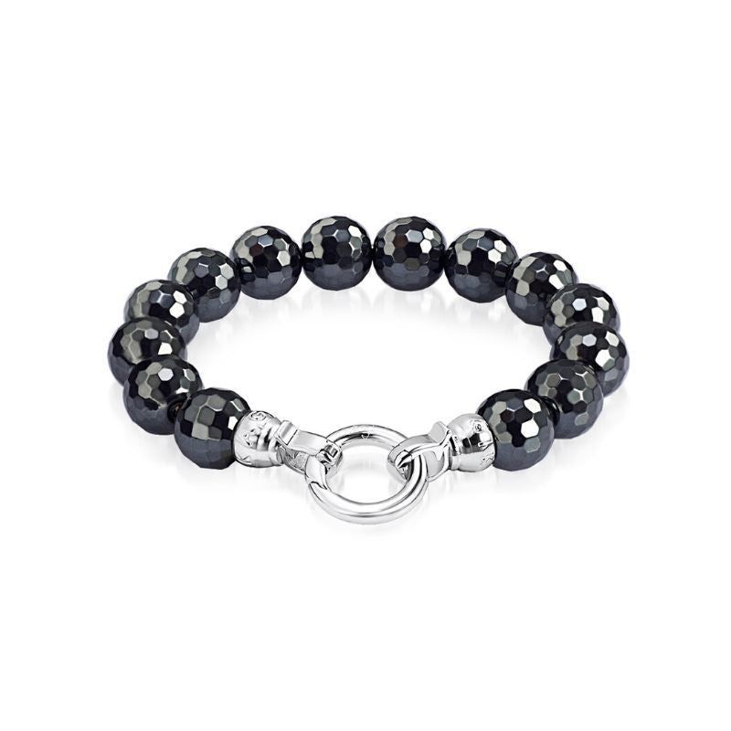 Midnight Heamatite Bracelet Large* (3926669983830)