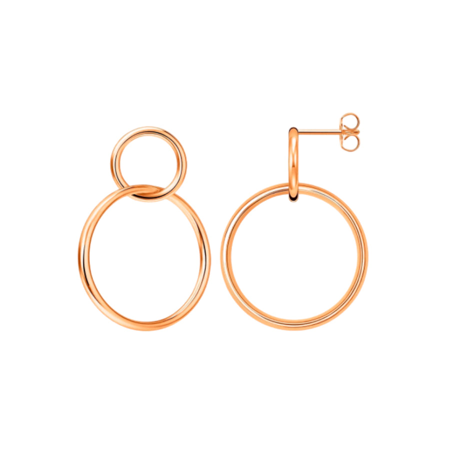Online Exclusive! Rose Duo Hoops (4957702357078)