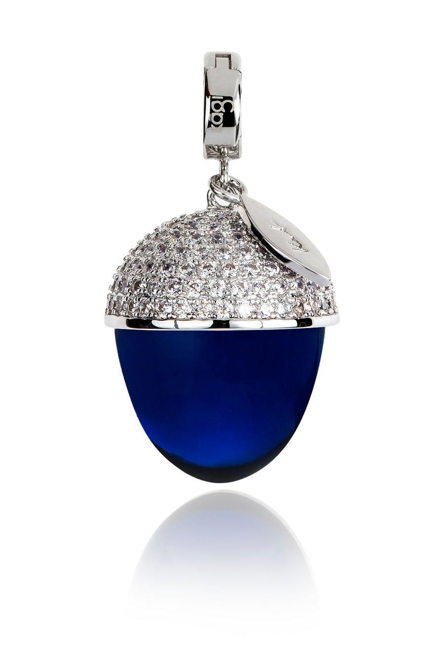 Electric Blue Acorn Pendant