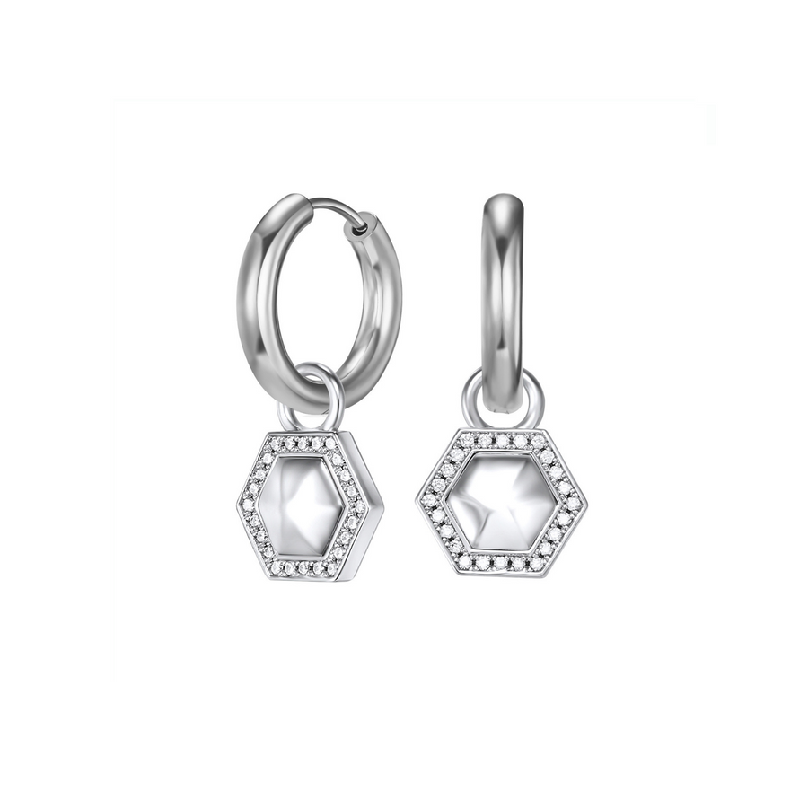 Sterling Silver Geometry Ear Charms
