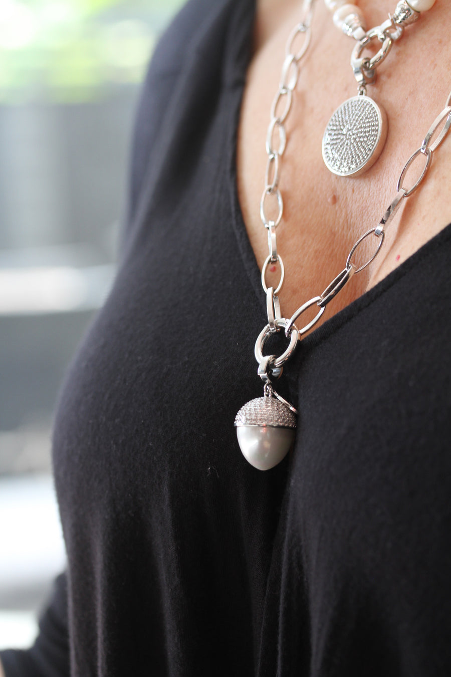 Silver Links Necklace 75cm (3926663528534)