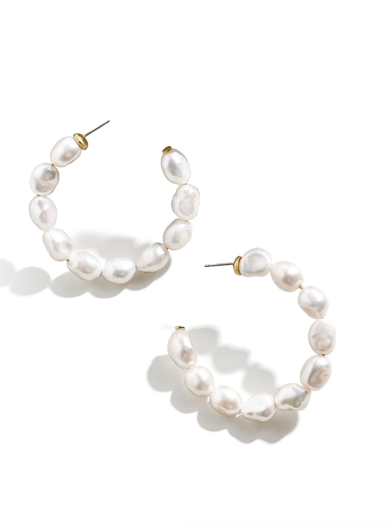 11k Gold Baroque Hoops - Grande