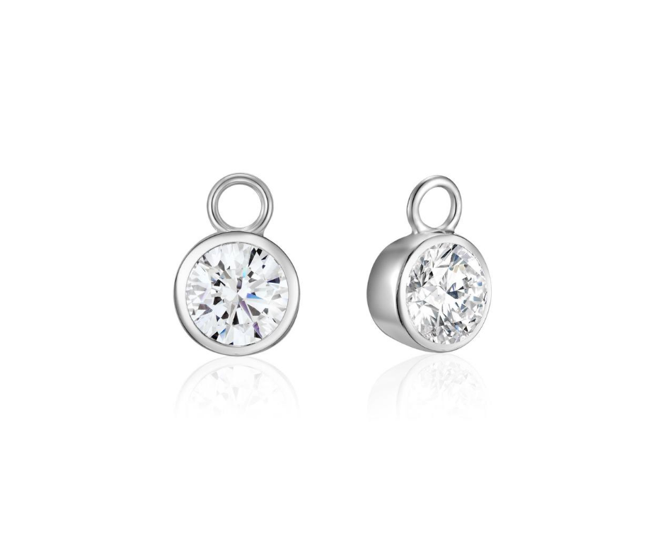 Silver Solitaire Ear Charms