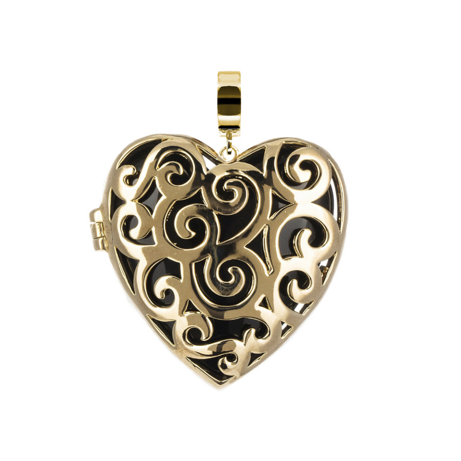 Gold Mini Splendor Heart Pendant