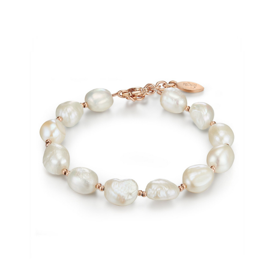 Rose Baroque Pearl Bracelet Adjustable