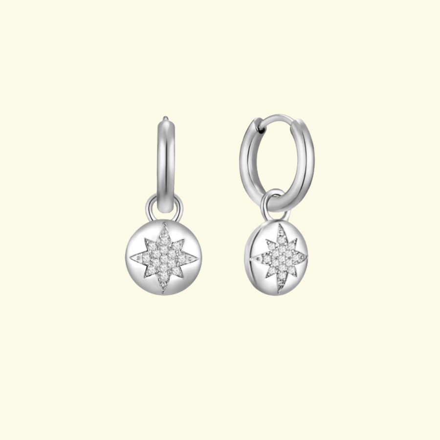 Silver Stella Ear Charms (3926682435670)