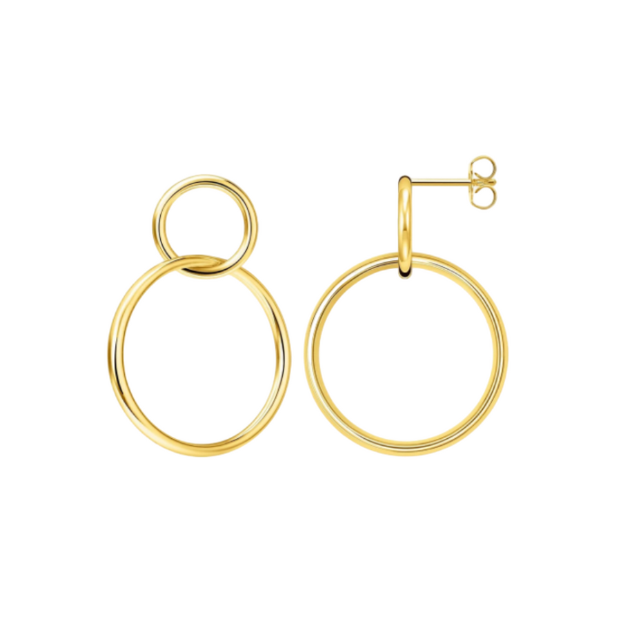 Online Exclusive! 14k Gold Duo Hoops