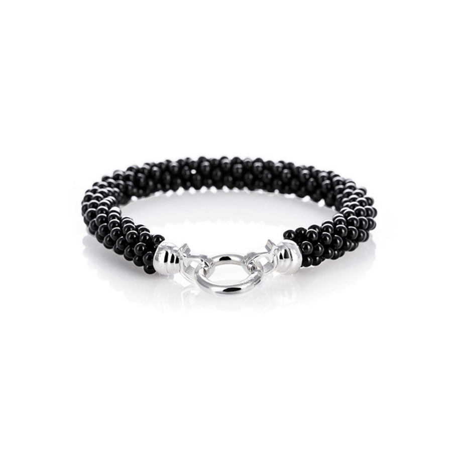 Black Weave Bracelet Medium