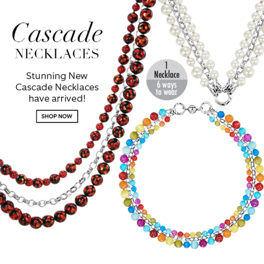 Kagi Jet Cascade Necklace* (4458886463574)
