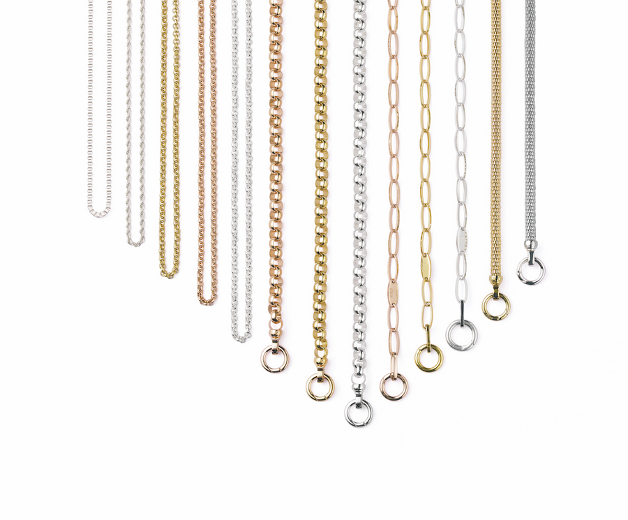 Gold Steel Me Petite Necklace 50cm