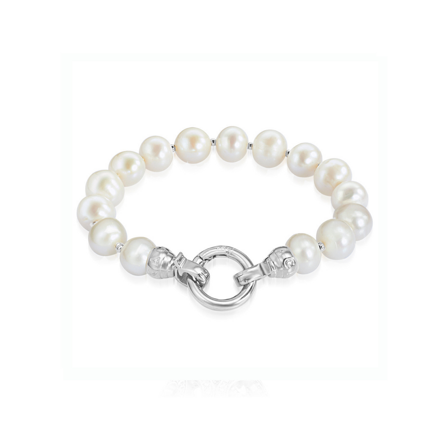 Cream Pearl Bracelet Medium (3926675390550)